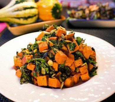 Red Yam and Kale Salad