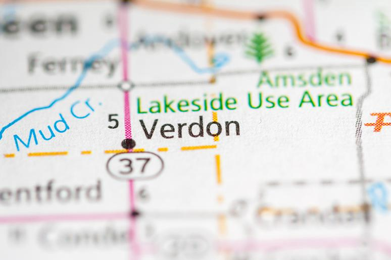 Verdon town, South Dakota