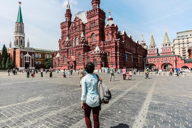 Stroll through Red Square in Moscow